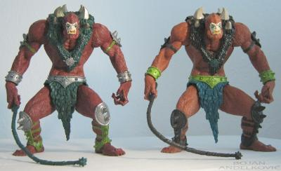 Comparison with regular Beast Man