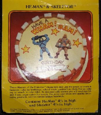 Front view of Masters of the Universe Cake Tops card