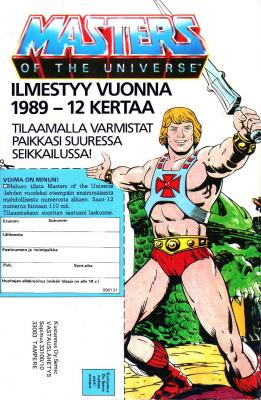He-Man Comic Subscription Coupon