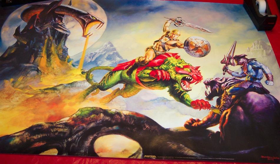 He Man Org Gt Merchandising Gt Posters Gt He Man Battle Cat