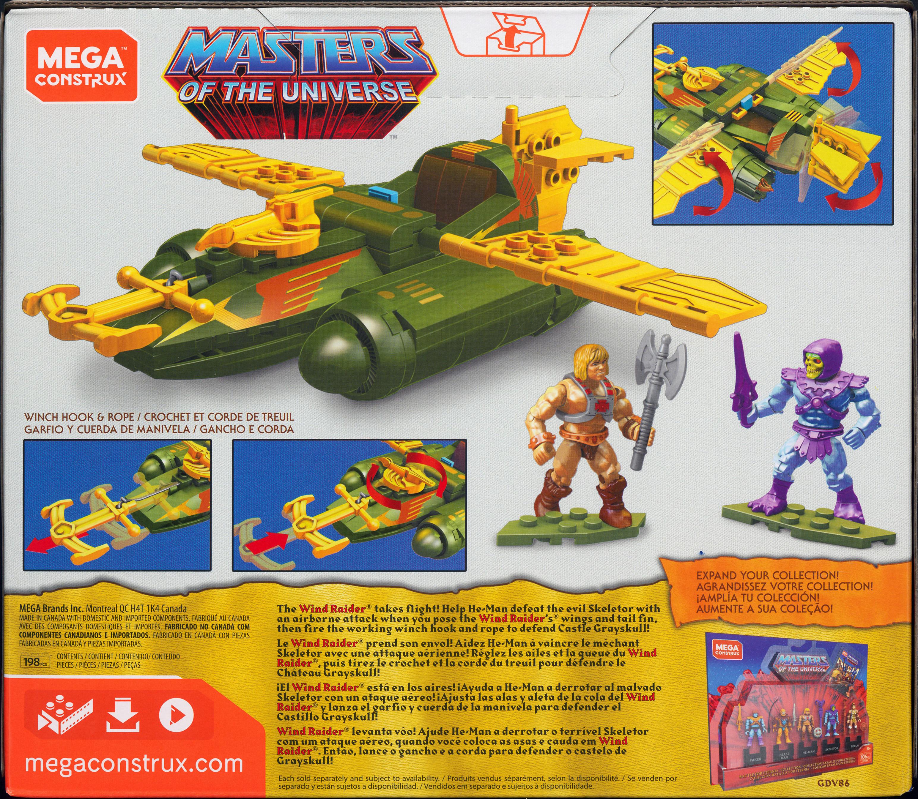 MASTERS OF THE UNIVERSE WIND RAIDER ATTACK Mega Construx 2019 MOTU He-Man