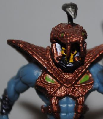 Mini Snake Armor Skeletor close up of upper body