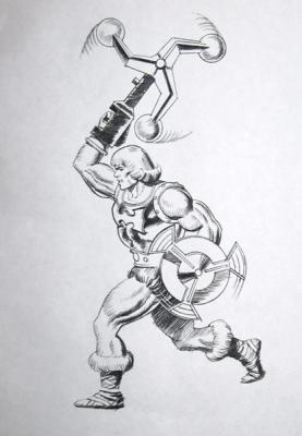 Flying Fists He-Man concept art sketch