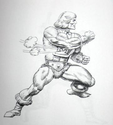 Thunder Punch He-Man concept art sketch