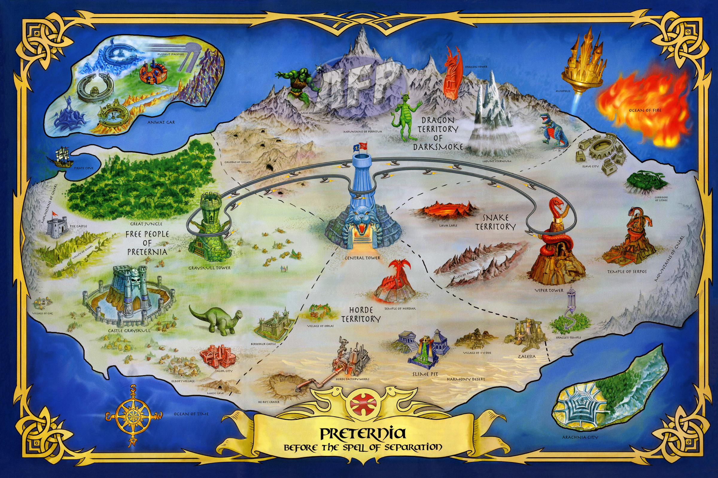 HeManorg  Toys  Masters of the Universe Classics  Map of