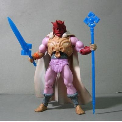 Here is a King Randor Test-Shot in different colored plastics. Complete with blue weapons and a white cape.