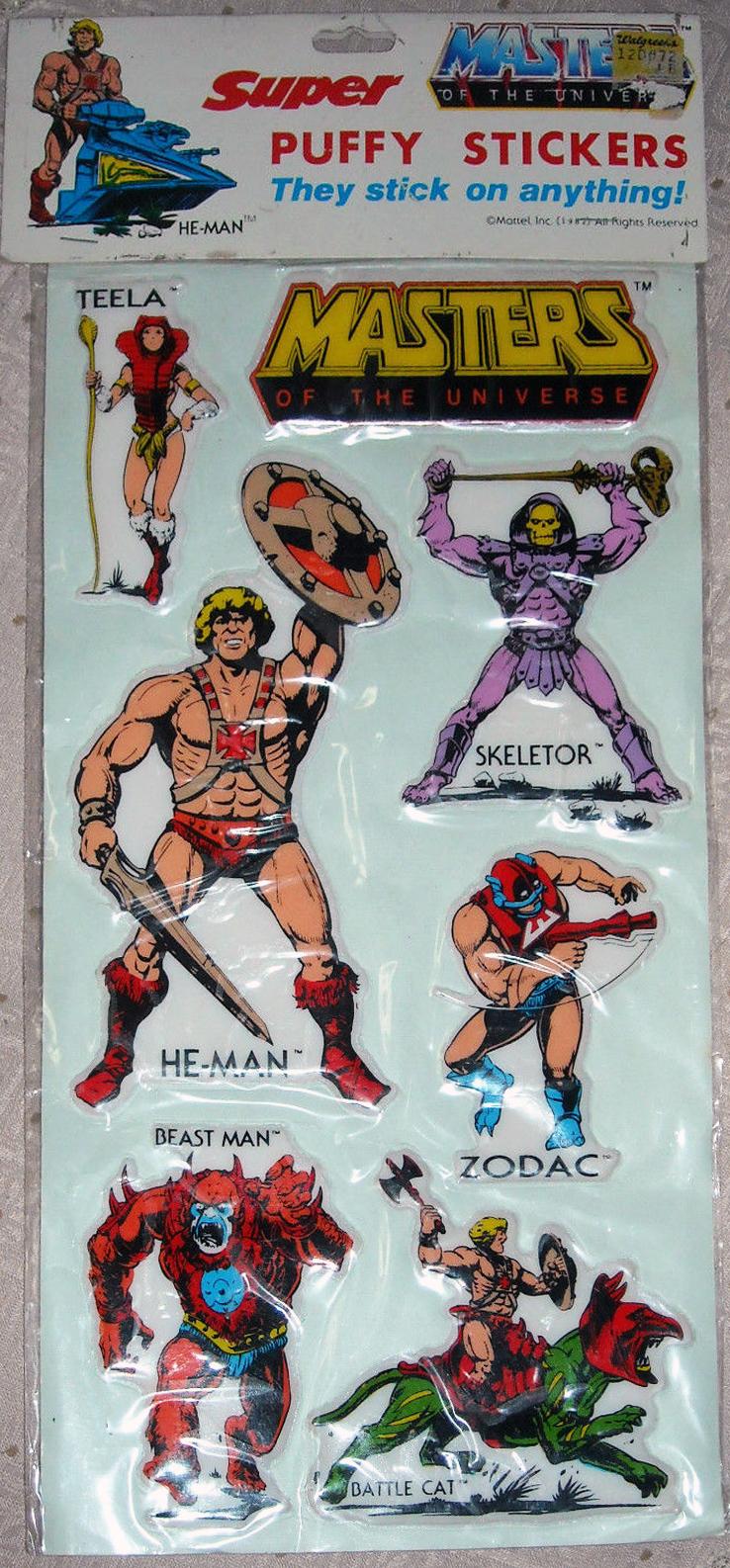he-man org  u0026gt  merchandising  u0026gt  stickers and albums  u0026gt  gordy  super puffy stickers