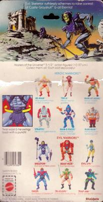 Skeletor Cardback - Rear View