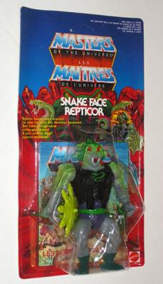 Snake Face Cardback - Front View