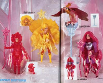 Final Prototypes Of The Star Sisters From The 1987 Mattel Catalog