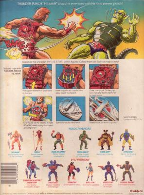 Thunder Punch He-Man Cardback - Rear View