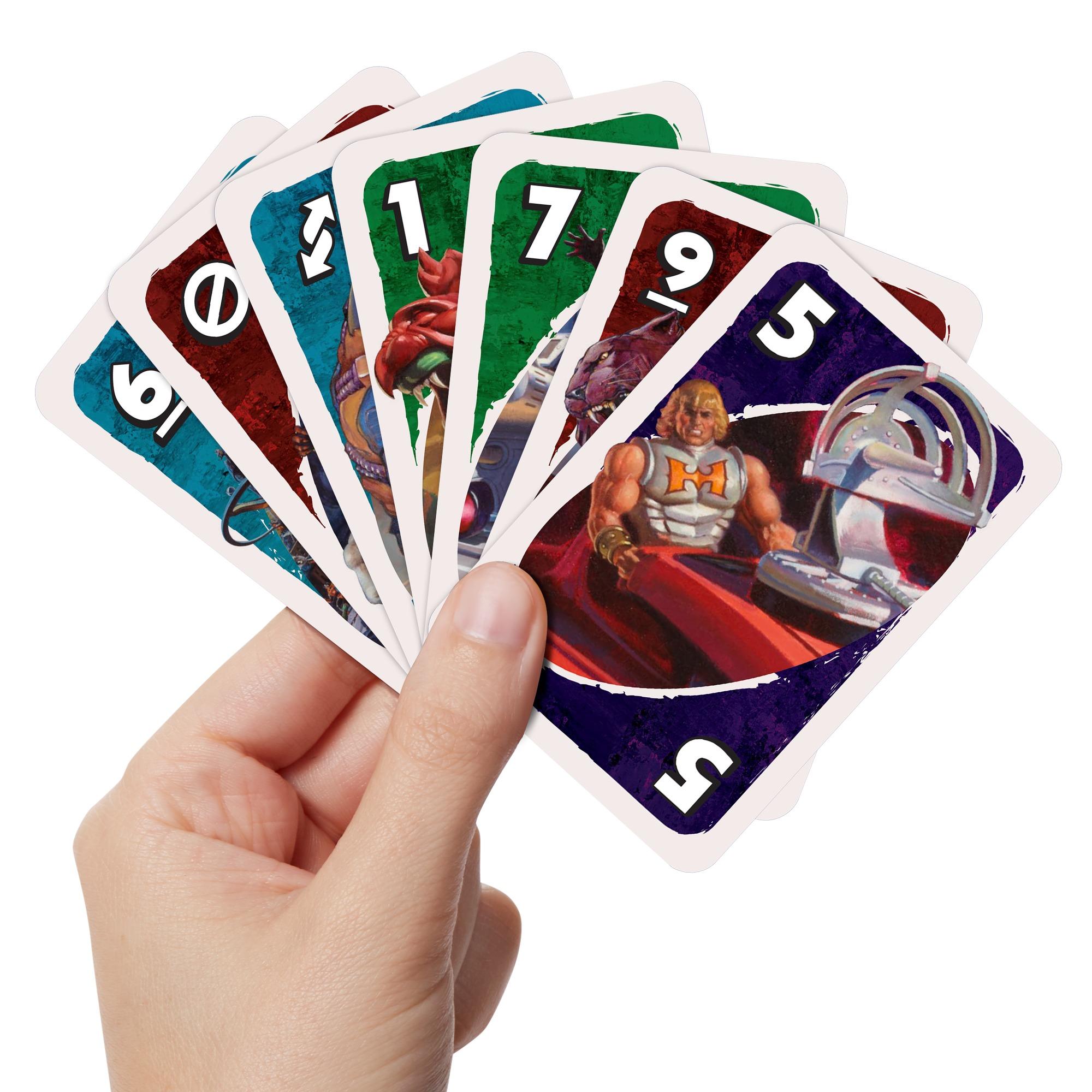 """Juego de cartas """"Uno"""" versión He-Man y los amos del universo"""