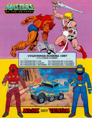 Free gift: MotU and Mask Poster with Release dates