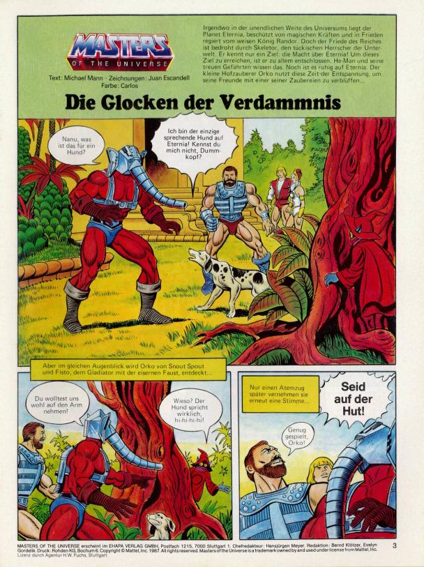 He Man Org Publishing Comics Germany Ehapa Verlag Masters
