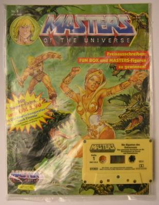 Cassette packaged with the comic