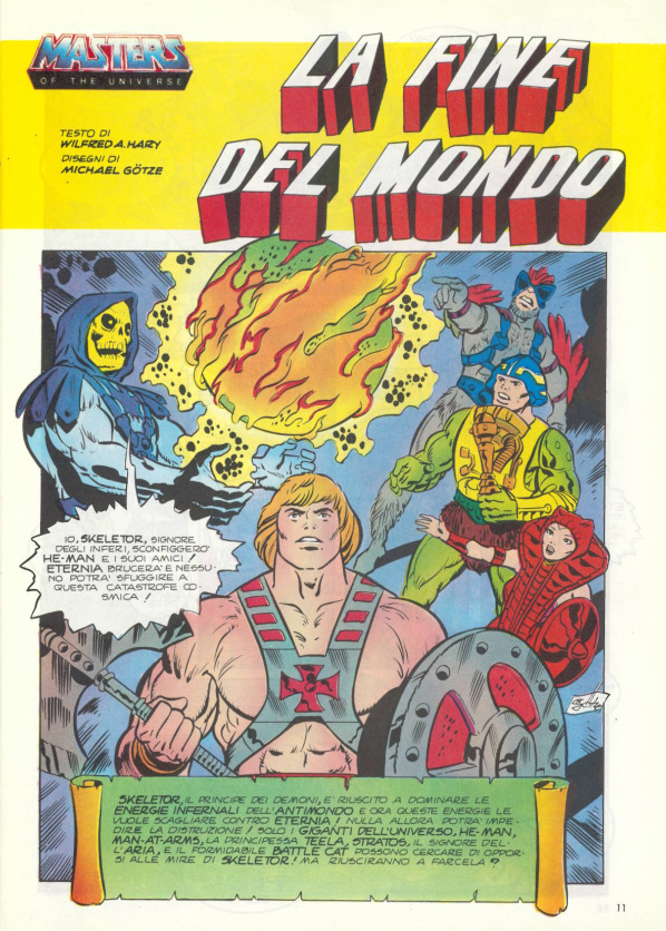 Serie completa 4 pezzi  He-Man And The Masters of The Universe Mattel 1986