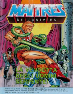 Cover (Italian - wrongly printed with the French MotU logo)