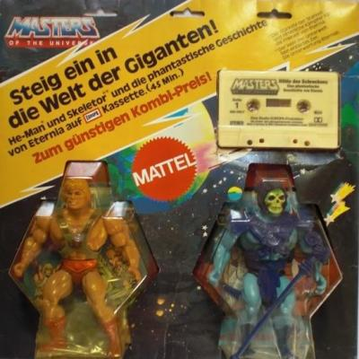 Cassette inside the German He-Man & Skeletor 2-pack