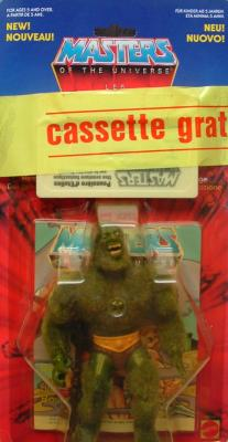Cassette attached with adhesive tape on Moss Man card