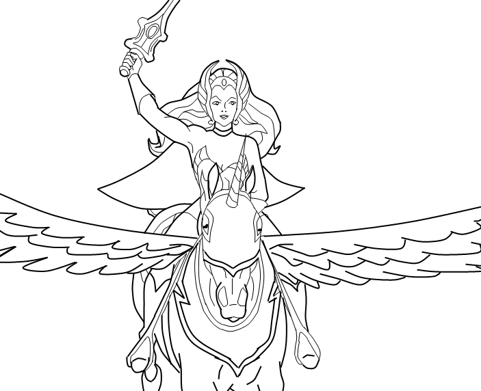 she ra coloring pages - photo#16