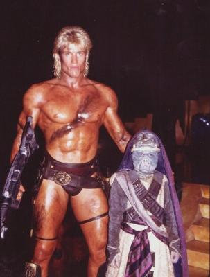 Dolph and Richard (as He-Man and Pigboy)