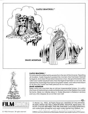 Page 12: Castle Grayskull and Snake Mountain