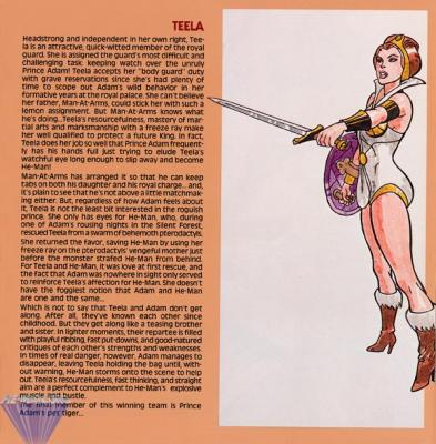 Teela only has eyes for He-Man, after he rescued her from the Silent Forest.