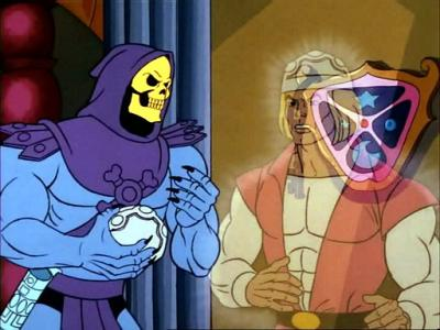 Skeletor capturing Prince Adam.