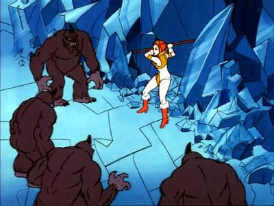 Shadow Beasts attacking Teela.