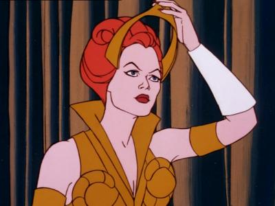 Teela replacing her tiara in The Witch & the Warrior