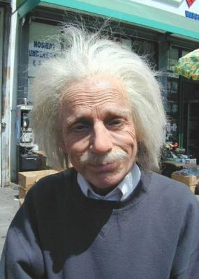 Robert Towers as Einstein