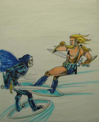 He-Man fights Skeletor