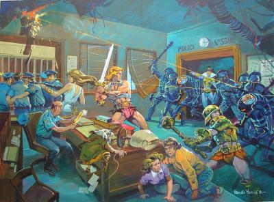 Battle at the Police station