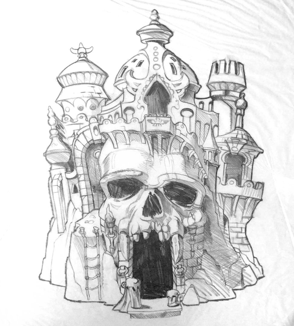 Motu Early Castle Grayskull Concept Art
