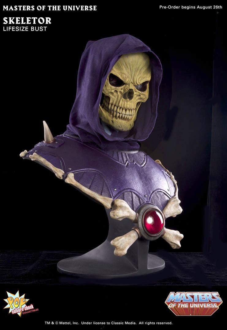 [Pop Culture Shock] Masters Of The Universe: Skeletor busto 1:1  - Página 2 Skeletor_bust_d_full
