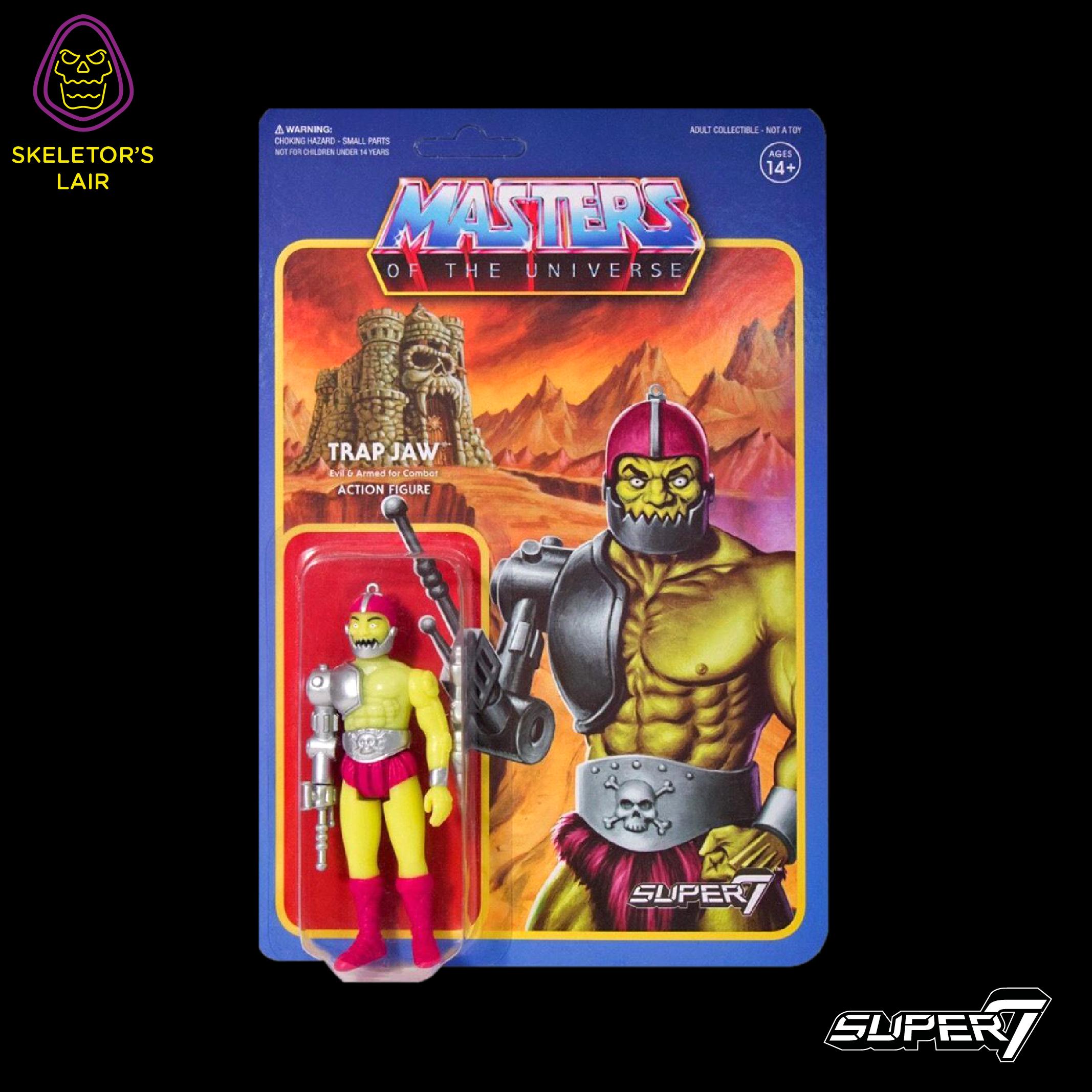 Super7 ReAction Masters of the Universe MOTU Evil Warriors E-1 Skeletor Figure
