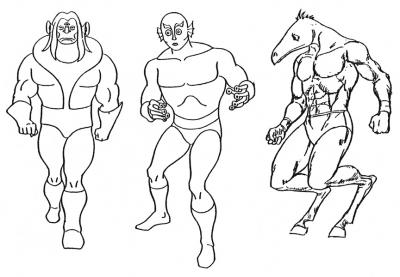 Unused alien atheles designs.