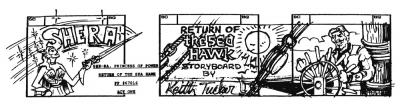 Keith Tucker's illustration introduces the storyboard.