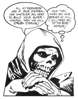 Skeletor references Boreworms.