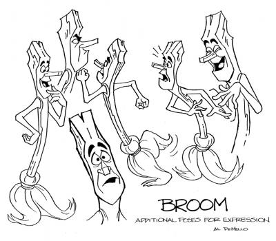 Broom displays many emotions.