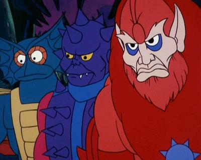 Mer-Man, Spikor, and Beast Man react to Skeletor's plan.