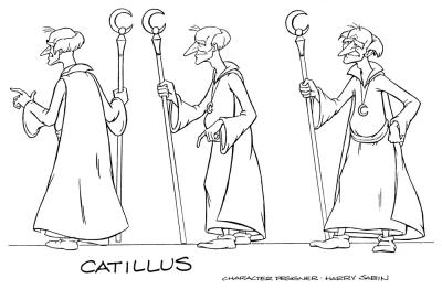 A model sheet of Catillus.