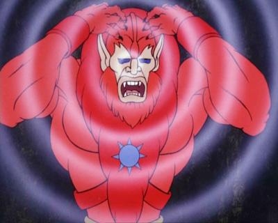 Beast Man uses his powers.