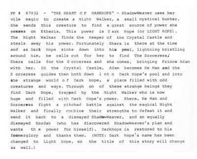 """The Heart of Dark Hope"" script page."