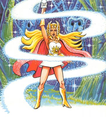 Adora is transformed into She-Ra.