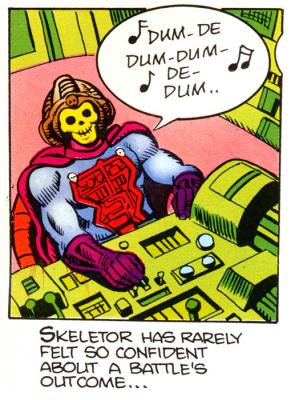 Skeletor sings to himself.
