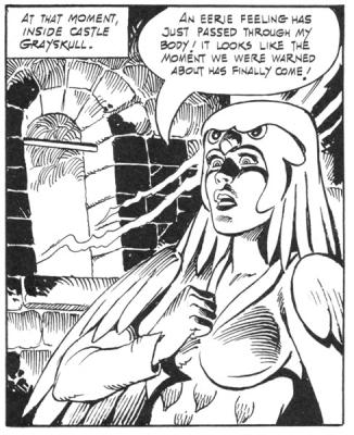 A look of shock crosses the Sorceress' face.