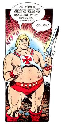 He-Man suddenly finds himself overweight.