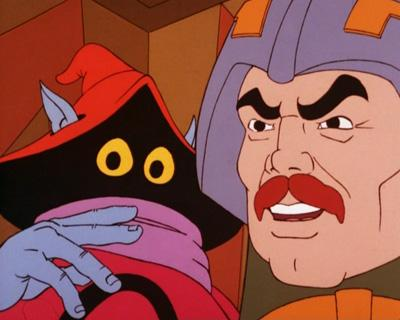 Orko is mistakenly drawn with four fingers.