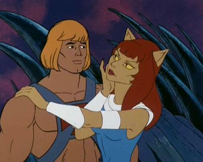 Kittrina approaches He-Man.
